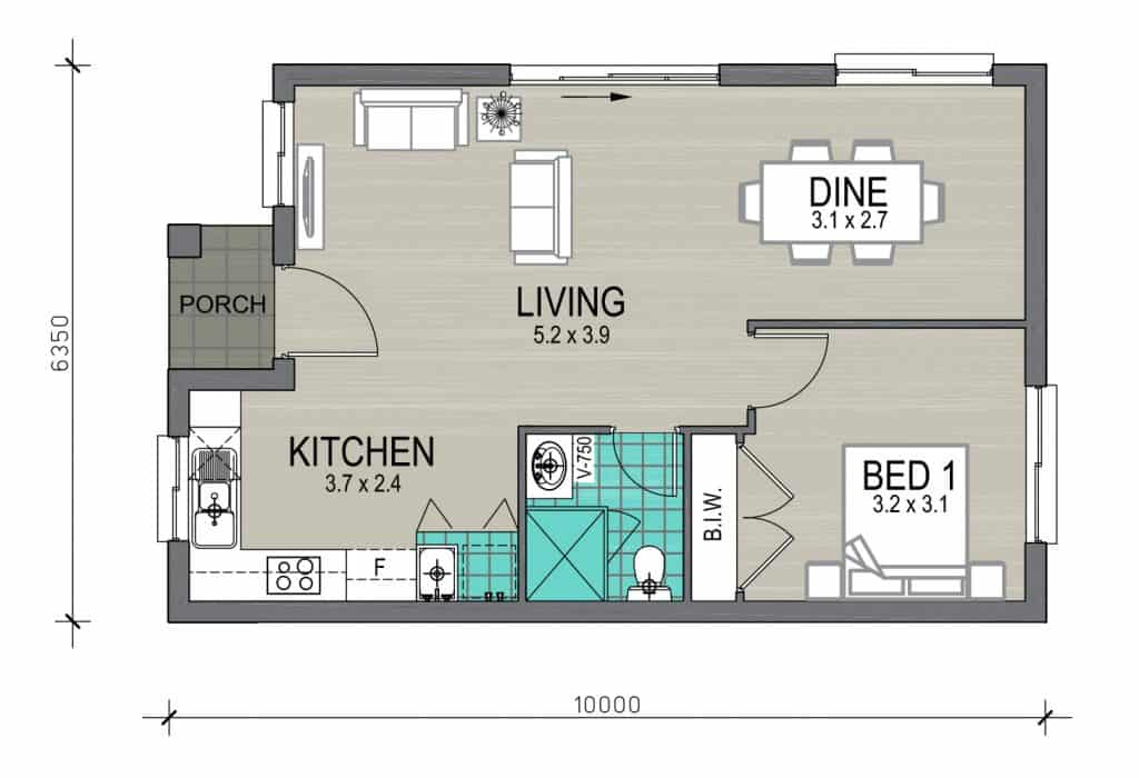 Granny flat archives new living homes for Granny house floor plans