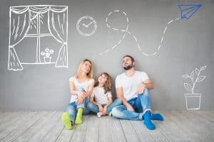 A family thinking about ideas for home designs